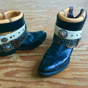 OOAK Upcycled Cowboy Boots Women's Size 10